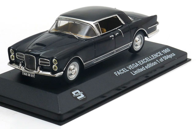 AUTO CAR COLLECTION VOITURE 1//43 SOLIDO FACEL VEGA FACELLIA GRISE HARD-TOP 1962